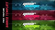 You Tube Banner New Youtube Banner Template 2015 Custom Colors Psd