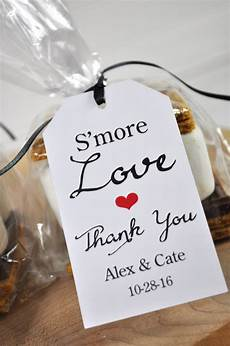 Wedding Favor Tags Wedding Favors Smore Love Favor Tags Bridal Shower Favor