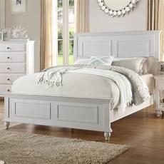 bedroom white wood bed frame headboard footboard