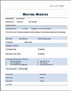 Meeting Minutes Templates Word Ms Word Formal Meeting Minutes Template Word Amp Excel