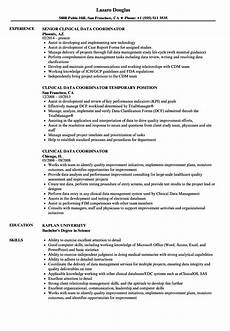 Clinical Data Manager Resumes Clinical Data Coordinator Resume Samples Velvet Jobs