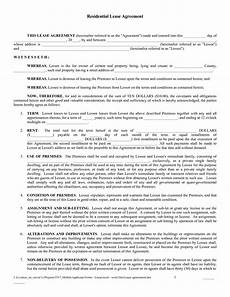 Downloadable Residential Lease Agreement Free Copy Rental Lease Agreement Free Printable Lease
