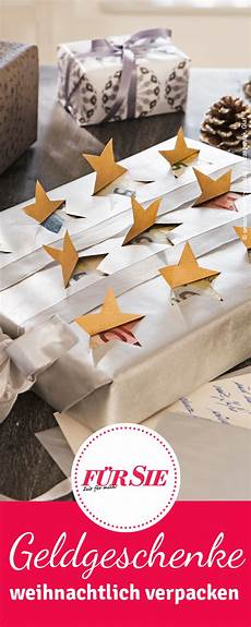 tipps geldgeschenke weihnachtlich verpacken