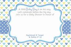 Baby Birthday Invitation Templates Free Printable Mickey Mouse Baby Shower Invitation