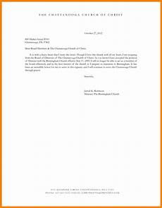 Resignation Letter Church Position 5 Resignation Letter From Church Ministry Position