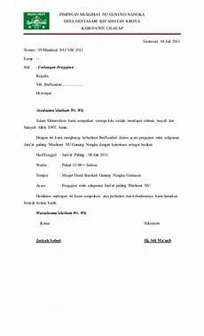 contoh undangan kerja bakti mushola 59337513 undangan pengajian rutin muslimat nu