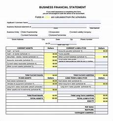 Small Business Financial Statements Examples Free 6 Sample Business Financial Statement Forms In Pdf