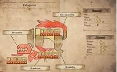 Mhw Weakness Chart Odogaron Monster Hunter World Wiki