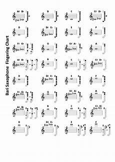 Baritone Sax Chart Bari Saxophone Chart Printable Pdf Download