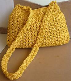 crochetkari golden yellow crochet purse