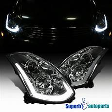 G35 Coupe Led Lights For 03 05 Infiniti G35 Coupe Smoke Projector Headlights