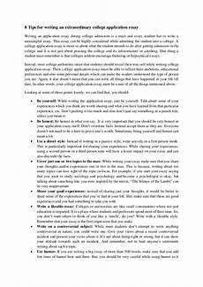 College Application Essays 8 Tips For Writing An Extraordinary College Application Essay