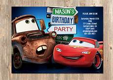 Cars Birthday Invites Disney S Cars Birthday Invitation Lightning Mcqueen And