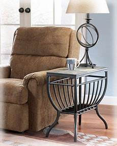Signature Design By Antigo Chair Side End Table Black End Table With Lamp Attached Chair Side Table Furniture