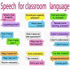 English Language Charts For Classroom Kids Speech For Classroom Language Skills English