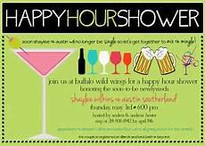 Happy Hour Invite Wording Happy Hour Showers The Next Big Thing Happy Hour Party