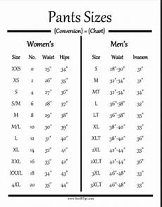 34 Pants Size Chart Is There A Size Chart For Men S Clothing To Women S