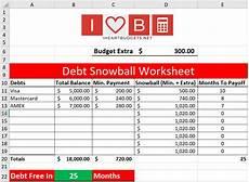Snowball Worksheet Free Debt Snowball Spreadsheet Video