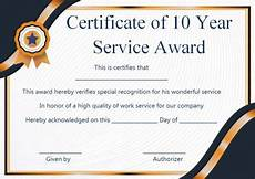 Years Of Service Certificate Customer Service Award Certificate 10 Templates That Give