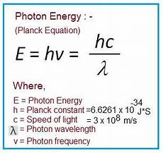 Formula For Energy Photon Energy Calculator Photon Energy Formula