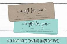 Editable Gift Certificate Template Gift Certificate Template Editable Gift Card Pdf 326553