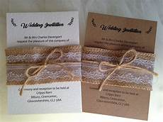 Lace Wedding Invitation Burlap And Lace Wedding Invitations Wedding Invites