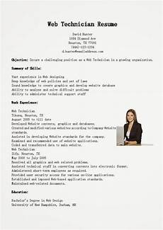 Web Technician Resumes Resume Samples Web Technician Resume Sample