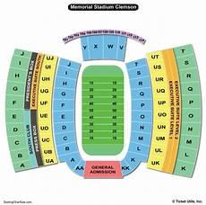 Memorial Chart Clemson Memorial Stadium Seating Chart Seating Charts