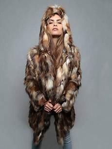 spirithoods coats spirithoods 174 brown rabbit faux fur coat spirithood