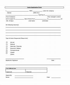 Company Application Form Free 11 Sample Leave Application Forms In Pdf Ms Word