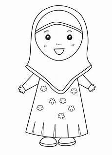 gambar mewarnai anak muslim 9 png 812 215 1131 buku