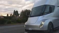 2020 tesla semi tesla semi truck pair spotted in convoy mode on ca highway