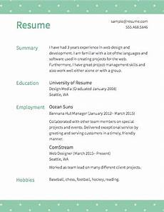 Create A Free Resume And Download Free Resume Builder Resume Templates To Edit Amp Download