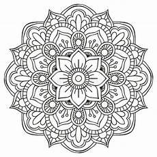 Indianische Muster Malvorlagen Zum Ausdrucken Mandalas Ausmalen Detailierte Schablone Vorlage Zum