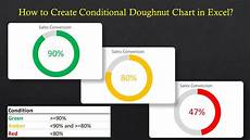 3d Donut Chart Excel How To Create Doughnut Chart With Conditional Formatting