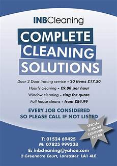 Cleaning Leaflet Template Cheap Design And Colour Printing Service A5 Leaflet