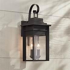 Black Iron Outdoor Lights Bransford 17 Quot High Black Iron Outdoor Wall Light 8m880