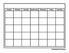 Blank School Calendar Blank Calendar Worksheet By Have Fun Teaching Teachers