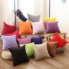 Sofa Pillows Solid 3d Image by European Sofa Car Back Throw Pillowcase Cotton Solid Color