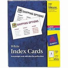 3x5 Card Printer Avery 5388 Unruled 3x5 Index Cards For Laser Inkjet
