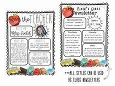 Meet The Teacher Newsletter Templates Back To School Meet The Teacher Newsletter Templates By