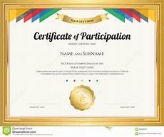 Free Printable Participation Certificates Certificate Of Participation Template Editable Free