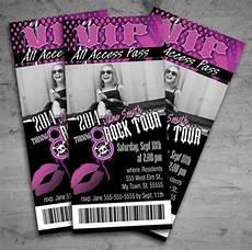 Concert Ticket Invitation Template Free Girl Rock Star Birthday Party Concert Ticket Invitation On
