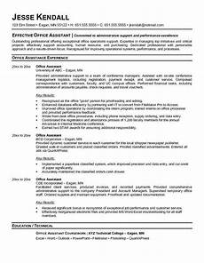 Office Manager Assistant Resumes Free Resume Templates For Office Jobs Administrative
