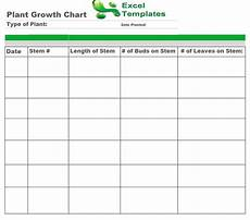 Pea Plant Growth Chart Plant Growth Chart Plant Growth Chart Template