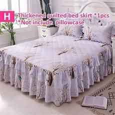 purple navy blue cotton single bed skirt mattress