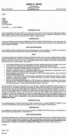 Executive Position Cover Letters Executive Cover Letter Example