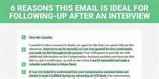 How Long After An Interview The Perfect Interview Follow Up Letter Business Insider