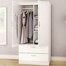 white armoire bedroom clothes storage wardrobe cabinet