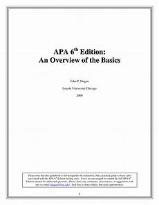 Apa Format 6th Edition Sample Paper Apa 6th Edition Template E Commercewordpress